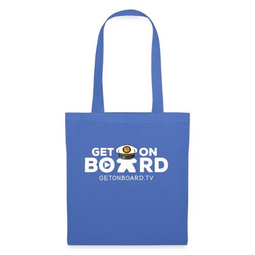 """""""Get on Board"""" Schriftzug - Stoffbeutel"""