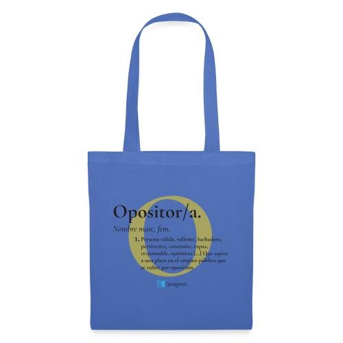 Definición de Opositor/a - Bolsa de tela