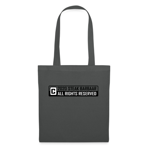 Copyright standaard zwart wit - Tas van stof