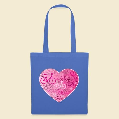Kunstrad | Mein Herz rosa - Stoffbeutel