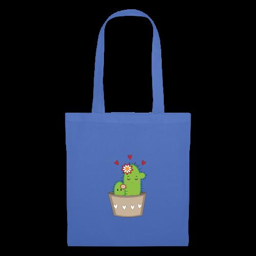 Kaktus Mama mit Kaktus Baby - Stoffbeutel