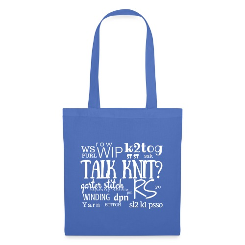 Talk Knit ?, white - Tote Bag
