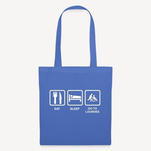 EAT SLEEP GO TO LOURDES - Tote Bag