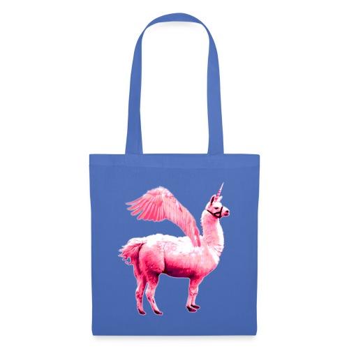 Pelahorn pinkes Pegasus Lama Einhorn - Stoffbeutel