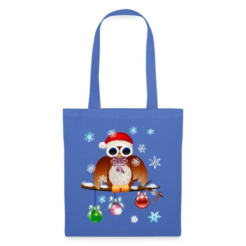 Merry Christmas Owl - Tote Bag