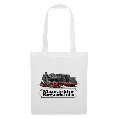 mansfelder bergwerksbahn dampflok 1 - Stoffbeutel