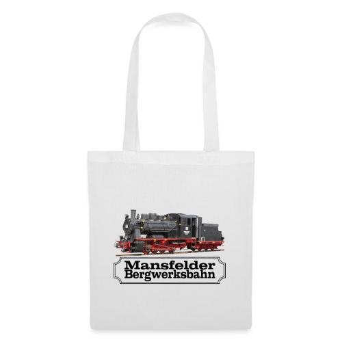 mansfelder bergwerksbahn dampflok 3 - Stoffbeutel