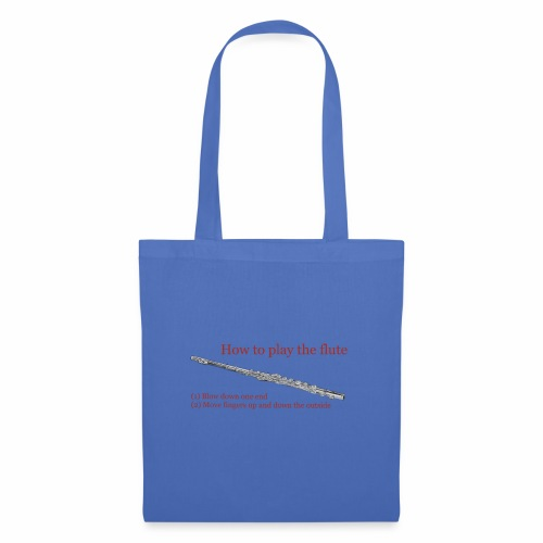 How to play the flute by artist Jon Ball - Tote Bag
