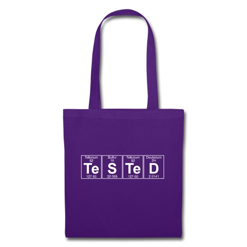 Te-S-Te-D (tested) (small) - Tote Bag