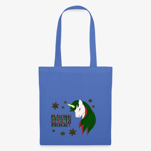 Unicorn making spirit bright - Tote Bag