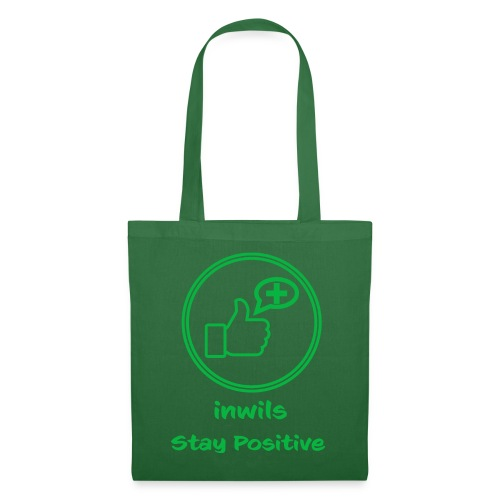 Green inwils Stay Positive Logo - Tote Bag