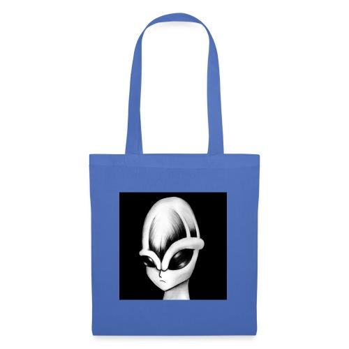 alien con trazo - Bolsa de tela