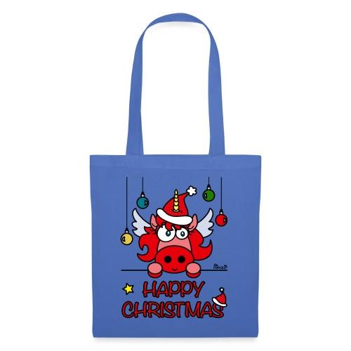 Unicorn Happy Christmas, Licorne Noël - Tote Bag