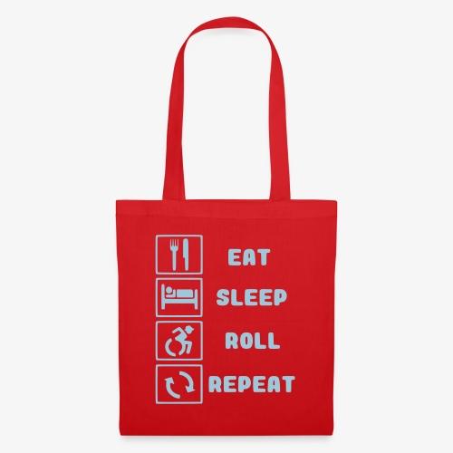 >Eten, slapen, rollen met rolstoel en herhalen 001 - Tas van stof