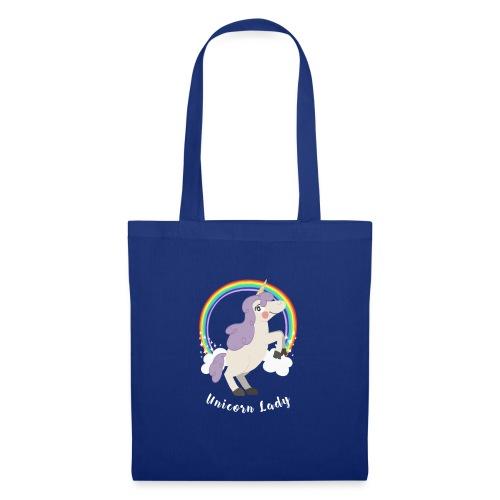 Señorita Unicornio   Unicornia Arco Iris - Bolsa de tela