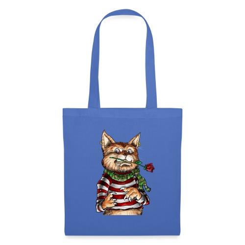 T-shirt - Crazy Cat - Sac en tissu