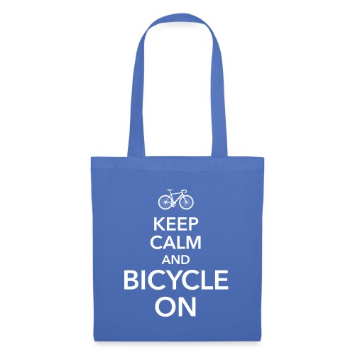 keep calm and bicycle on Fahrrad Drahtesel Sattel - Tote Bag