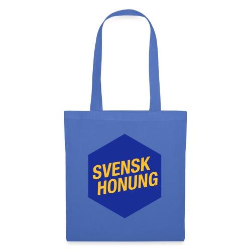Svensk honung Hexagon Blå/Gul - Tygväska