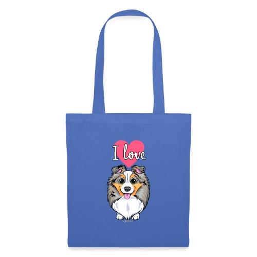 Sheltie Dog Love 3 - Tote Bag