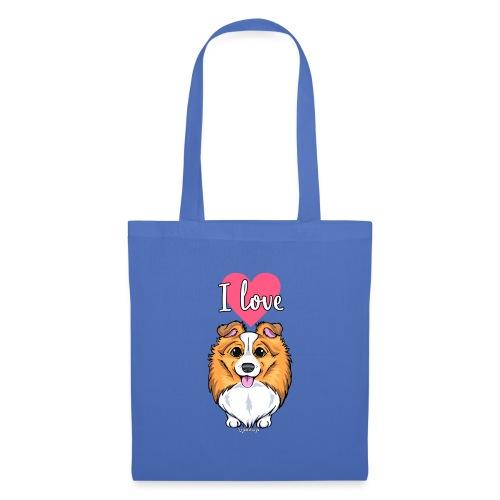 Sheltie Dog Love 2 - Tote Bag