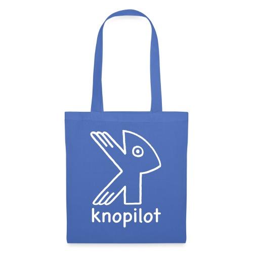 K_Vogel weiss Knopilot - Stoffbeutel