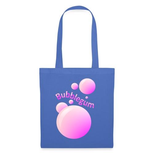 bubblegum glansig text och stora rosa bubblor - Tote Bag