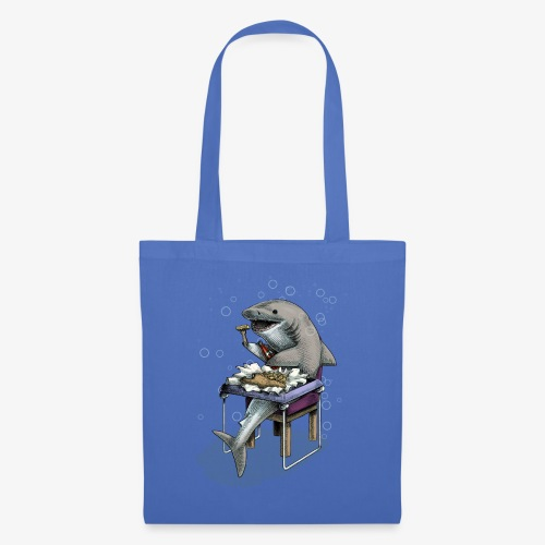 Shark's Fish and Chip dinner - Tote Bag