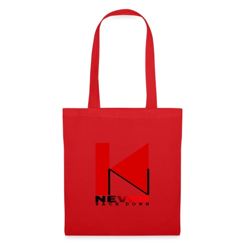 NEVER BACK DOWN - Tote Bag