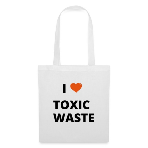 real genius i heart toxic waste - Tote Bag