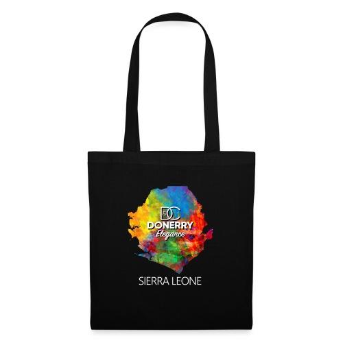 Sierra Leone Colourful Map Dark - Tote Bag