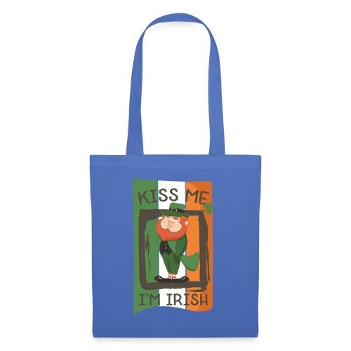 St. Patrick's Day Leprechaun - I'm Irish - Kiss Me - Tote Bag