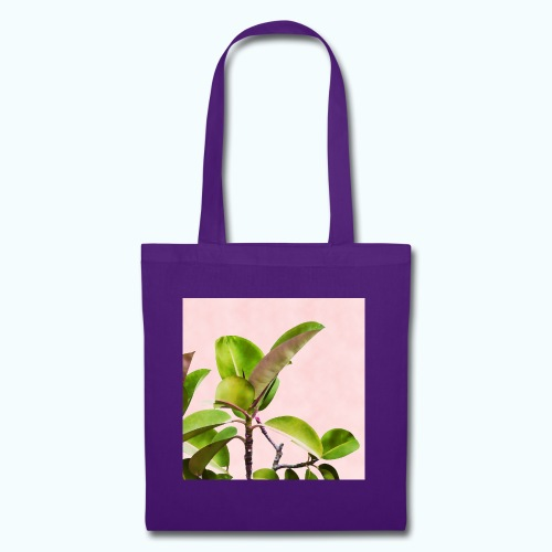 Rubber tree leaf minimalism watercolor - Tote Bag