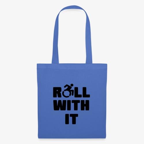 > Ik rol met mijn rolstoel, roller, gehandicapt - Tas van stof