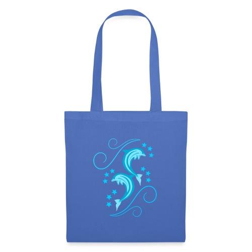 Delfiny - Torba materiałowa