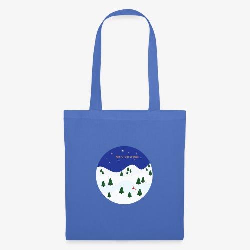 boule Noël bleue - Tote Bag