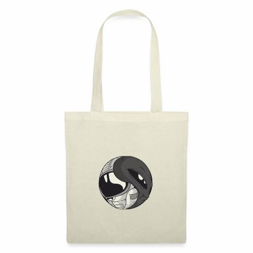 Yin Yang space Alien und Astronaut - Stoffbeutel