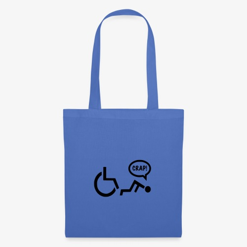 Gevallen rolstoel gebruiker pech 003 - Tas van stof