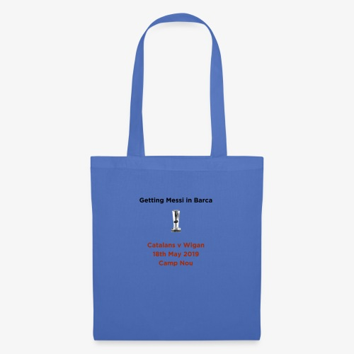 Getting Messi in Barca Super League Champions on T - Tote Bag
