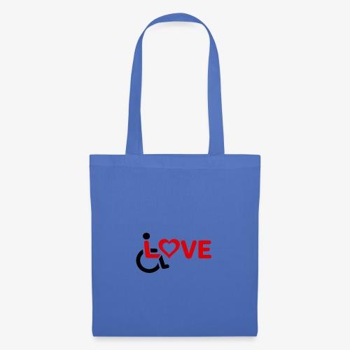 > Rolstoel liefde, rolstoelgebruiker, roller - Tas van stof