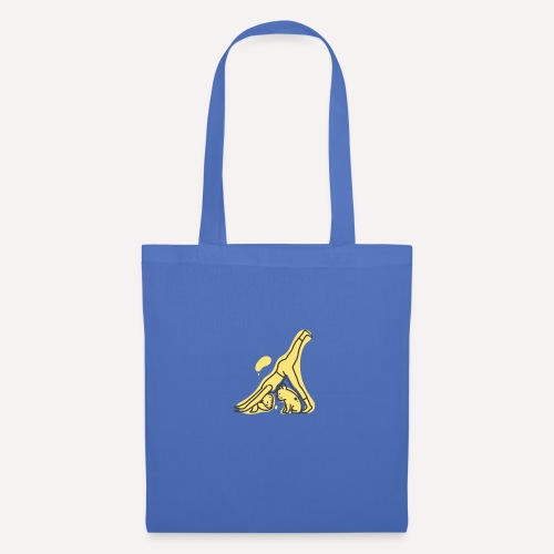 Yoga Pose Downward Facing Dog T-shirt Print - Tote Bag