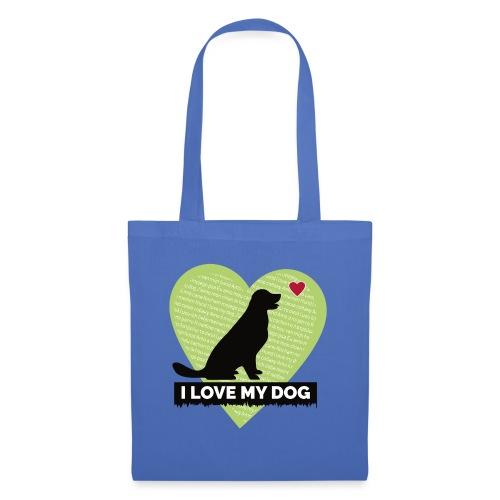I LOVE MY DOG HEART - Tote Bag