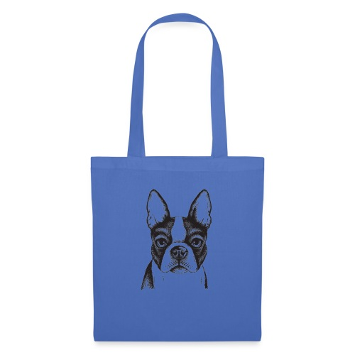 boston terrier french bulldog puppy painte - Stoffbeutel