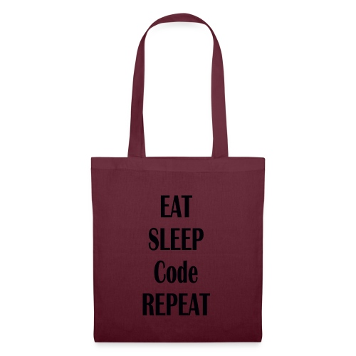 EAT SLEEP CODE REPEAT - Stoffbeutel