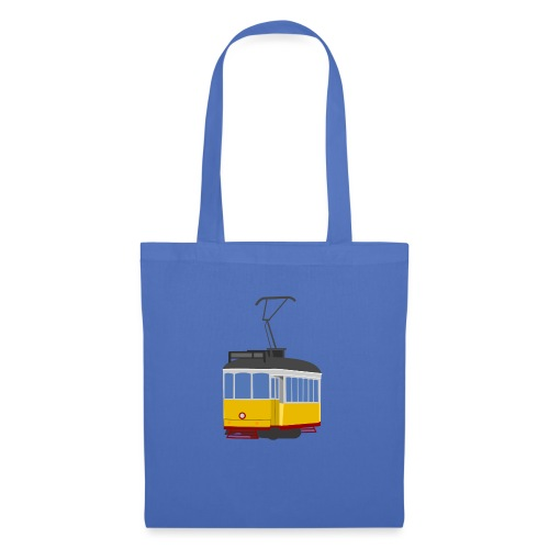 Tram car yellow - Tote Bag