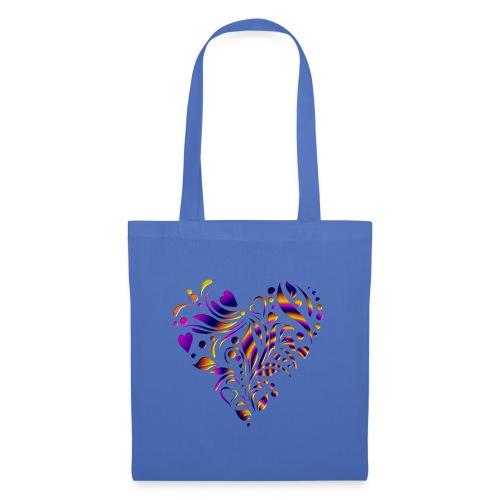 motif coeur multicolor - Sac en tissu