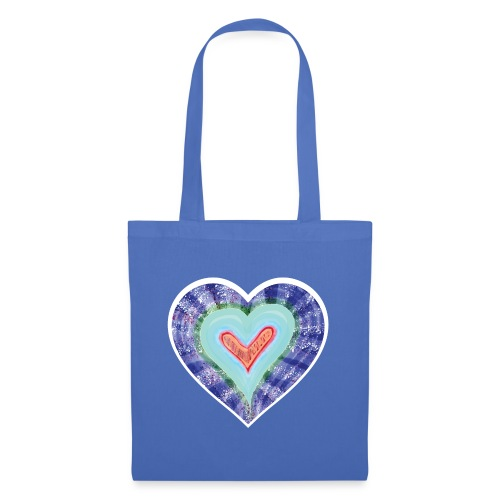 HeartSpread 18Little red heart in a green garden - Tote Bag