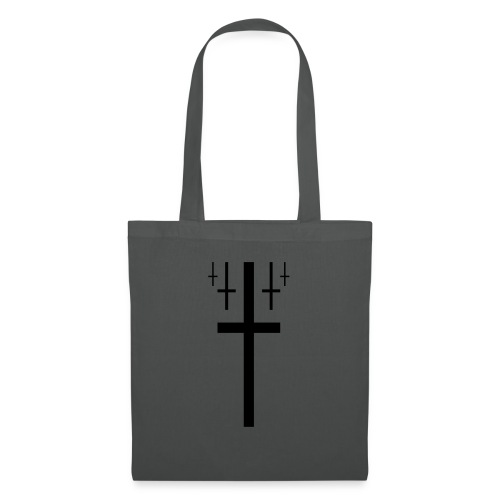 cross christus god jesus black - Tote Bag