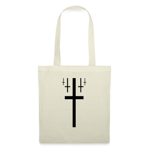 cross christus god jesus black - Tote Bag