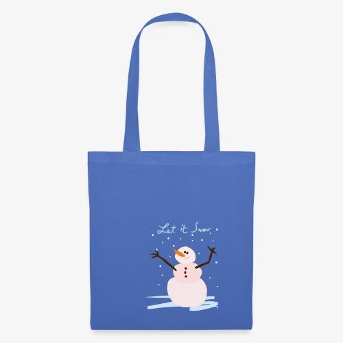 snowman let it snow - Tote Bag