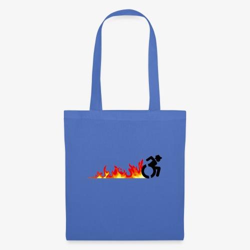 Snelle rolstoel gebruiker, vuur banden, roller 002 - Tas van stof